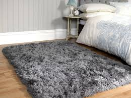 large grey plush soft sumptuous fluffy