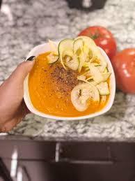 carrot ginger soup using my nutribullet