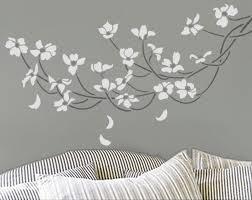 Another Beautiful Idea Dogwood Tree Stencils Wall Wall Stencils Diy Stencil Decor