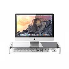 tempered glass computer monitor stand
