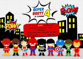 Birthday Party Invitations Templates Superhero Birthday