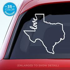 Amazon Com Texas State Love Decal Tx Love Car Vinyl Sticker Add A Heart Over Houston San Antonio Dallas Austin Fort Worth El Paso Waco Made With Outdoor Vinyl Handmade