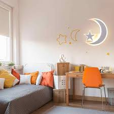 Modern Led Wall Light Simple Moon Star Bedroom Decorative Lamp Kids Room Wall Light For Home Living Room 15w 110v 220v Aliexpress