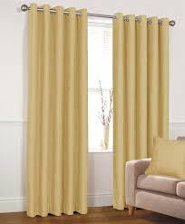 aston ochre blackout eyelet curtains