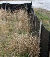 Erosion Control Silt Fence Black Construction Silt Fence