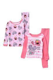 ame sesame street cotton pajamas