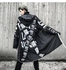 Satın Al AELFRIC Ceket Adam Siper Çapraz Şerit Mektup Paltolar Erkekler  Moda Denim Jean Kapşonlu Uzun Ceket Erkek Hip Hop Rüzgarlık TR27, $83.02 |  DHgate.Com'da