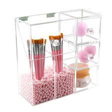 makeup brush organizer clear storage