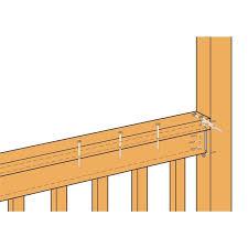 Simpson Strong Tie Fbfz Zmax Galvanized Flat Rail Fence Bracket For 2x4 Lowe S Canada