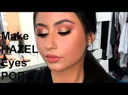 make hazel eyes pop client makeup