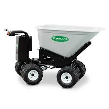 Overland Electric Wheelbarrow 10 Cu Ft With 4wd Power Dump And Extended Range Battery Granite Online Store