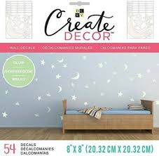 Dcwv Create Decor Wall Decals 8 X 8 Glow In The Dark Moon Stars 54 Pcs For Sale Online