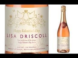 personalised valentine sparkling rosé