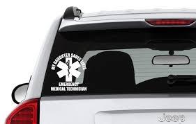 Emergency Medical Tech Emt Vinyl Car Window Decal Medic Emt Love Pride Support Art Car Decals Vinyl Car Window Decals Vinyl Decals