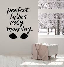 Quotes And Words Wall Vinyl Decals Tagged Eyelashes Wall Decal Wallstickers4you