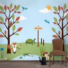 Forest Wall Mural Stencil Kit For Kids Room Baby Nursery Etsy