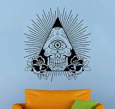 All Seeing Eye Wall Decal Illuminati Sign Vinyl Sticker Wall Mural Home Decor 23 Ebay