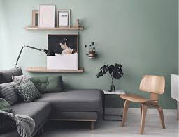 sage green paint scandinavian decor