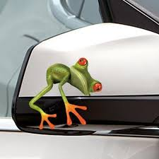 3d Car Frog Sticker Funny Decal High Temperature Waterproof For Car Body Car Window