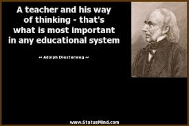 a teacher and his way of thinking com