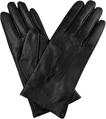 genuine lambskin leather cashmere lined