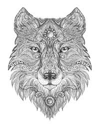 Highly Detailed Abstract Wolf Illustration Wall Mural Pixers