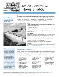 E Erosion Control Home Builders For