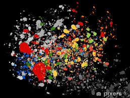 Paint Splat Wall Mural Pixers We Live To Change