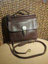 brown leather coach purse willis