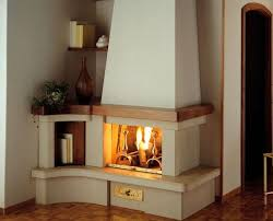 corner gas fireplace for warmth and