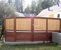 Natural Framed Bamboo Hot Tub Privacy Enclosure Outside View Hot Tub Privacy Hot Tub Gazebo Pool Hot Tub