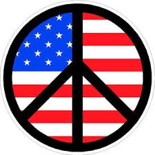 Black Peace Sign American Flag Background Sticker At Sticker Shoppe