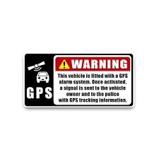 Yjzt 13 9 6 8cm Gps Alaram To Owner Police Decals Colorful Noticeable Pvc Car Sticker C1 3055 Car Sticker Police Decalscar Decal Sticker Aliexpress
