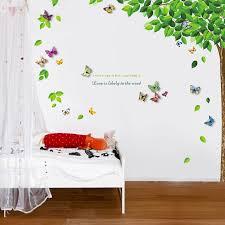 Harriet Bee Beane Leaf 3d Colourful Butterfly Sticker Wall Decal Reviews Wayfair