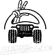Jeep Wave Steering Wheel Decal Sticker Decalmonster Com