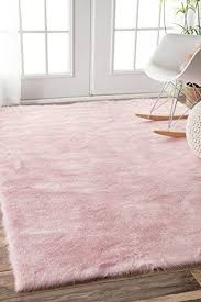 Amazon Com Faux Sheepskin Cloud Solid Soft And Plush Pink Shag Area Rugs 3 Feet By 5 Feet 3 X 5 Pink Rug Pink Area Rug Bedroom Rug
