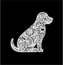 Henna Labrador Retriever Decal Lab Dog Fancy Custom Vinyl Car Truck Window Laptop Sticker Dog Decals Fancy Dog Lab Dogs
