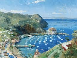 Catalina, View from Mt. Ada - Thomas Kinkade Galleries of New York ...
