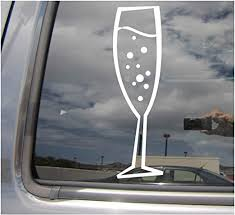 Amazon Com Right Now Decals Bubbly Champagne Glass Stem Flute Cars Trucks Moped Helmet Hard Hat Auto Automotive Craft Laptop Vinyl Decal Store Window Wall Sticker 10528 Home Kitchen
