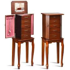 costway jewelry cabinet armoire storage