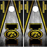 Amazon Com Iowa Hawkeyes Cornhole Set Of 6 Vinyl Decal Stickers Herky Bean Bag Sports Outdoors