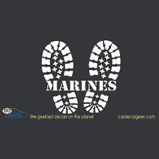 Marines Combat Boots Car Window Vinyl Decal Sticker Military Decals