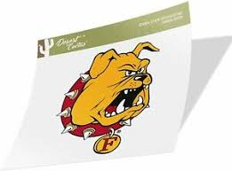 Ferris State University Fsu Bulldogs Sticker 00001 Ebay