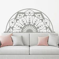 Half Mandala Wall Decals Sticker Fashion Bedroom Decor Boho Bohemian Art Ma213 For Sale Online Ebay