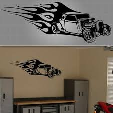 Hot Rod Wall Decal Racing Wall Sticker Trailer Racing Decal 48 X 20 Ebay