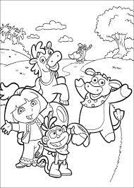 Kids N Fun Kleurplaat Dora De Verkenner 2 Dora De Verkenner 2