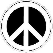 Black And White Peace Sign Reflective Or Matte Vinyl Decal Sticker Ebay