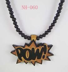 pow piece good quality wood pendant
