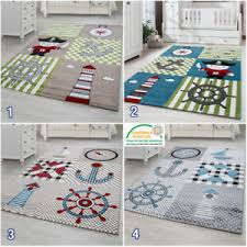 Boys Nursery Rug For Kids Nautical Theme Childrens Bedroom Carpet Baby Boy Mats Ebay