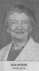 MYERS, Ada Josephine 1918 - 2014